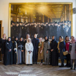 W4SG Members and speakers in front of 100 year old painting of the Danish Chamber of Commerce. There is a significant shift in diversity - something we are proud of!